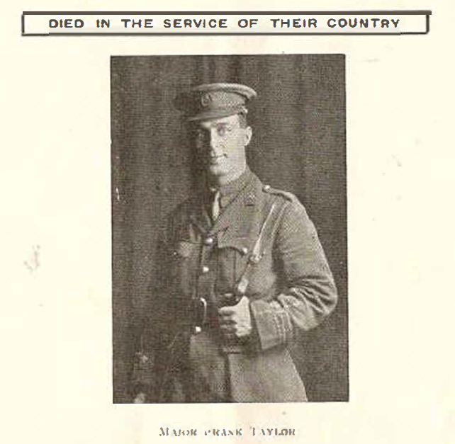 1919_WWI_died_taylor_major